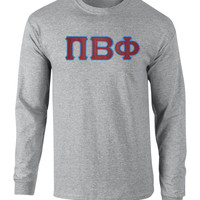 Pi Beta Phi Twill Letter Long Sleeve Tee