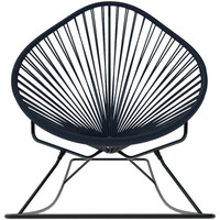 Acapulco Rocker, Black Weave On Black Frame - modern - rocking chairs - by Innit Designs