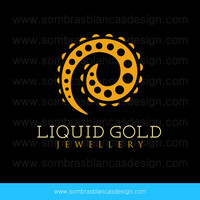 OOAK Premade Logo Design - Golden Swirl - Perfect for a jewelry brand or a goldsmith
