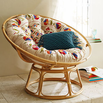 Papasan Chair Cushion   Boho Floral