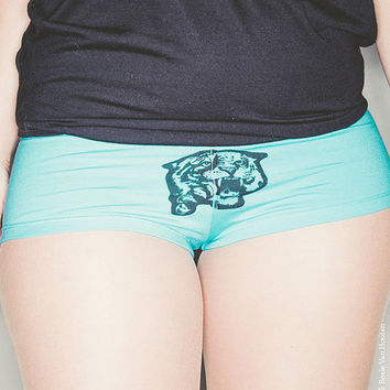 valentines day, knickers tiger, tiger, blue, underwear blue, womens underwear, blue shorts tiger, 1AEON  tiger boyshort,  Shortie,  size L