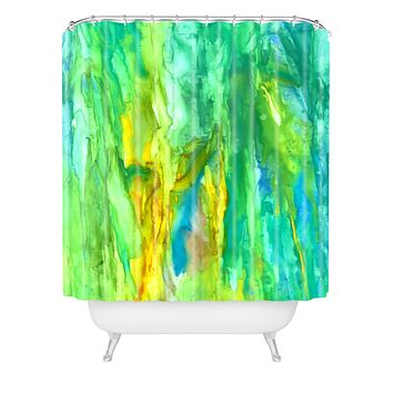 Rosie Brown Watercolor Cascade Shower Curtain
