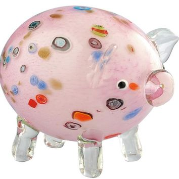 Adorable Home Decor Glass Pig