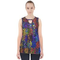Colorful Waves Cut Out Tank Top