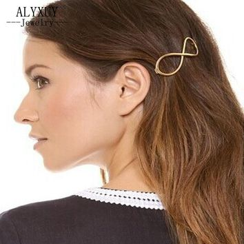 New fashion hairwear Infinity alloy hairpins gift for women ladies' H300