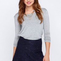 BB Dakota Kingsling Navy Blue Lace Skirt