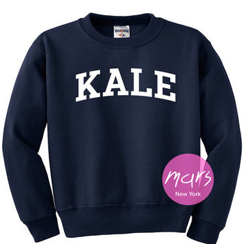 KALE Sweatshirt Kale Sweatshirt - Kale from MarsNewYork on Etsy
