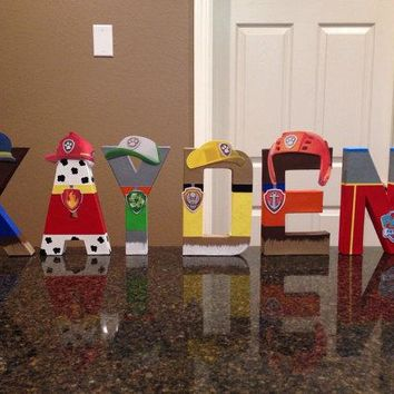 Paw Patrol Custom Name Letters - (price is per letter)
