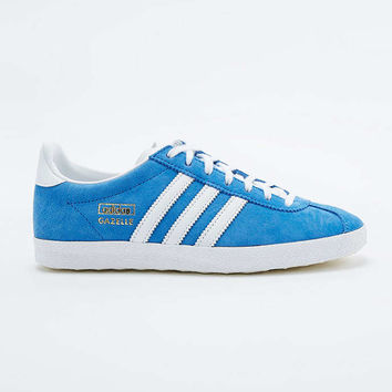 adidas Originals Gazelle Blue Suede Trainers - Urban Outfitters
