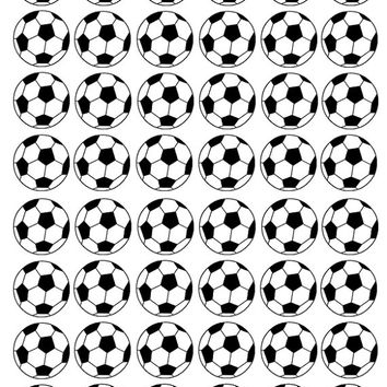 "Soccer Gift, 24 temporary tattoos for your soccer team, 1.25"" each"