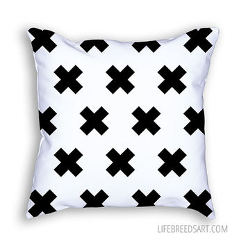 Modern Plus (White) - Throw Pillow