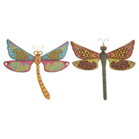 Dragonfly Indoor/Outdoor Wall Decor (Set of 2)