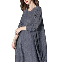 Women's Dress Knit Long Sleeve Autumn Spring Casual Loose Fitting Plus Size
