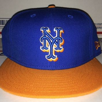 New YORK METS Ny Baseball cap vtg 7 5/8 new Era fitted hat Yankees Rangers Knick