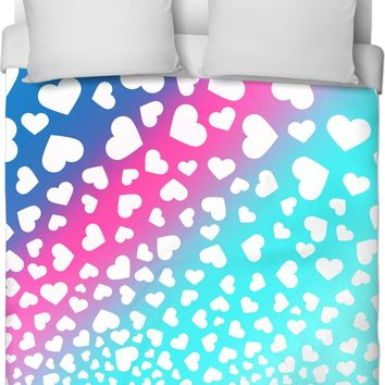 Hearts Ombre Duvet Cover