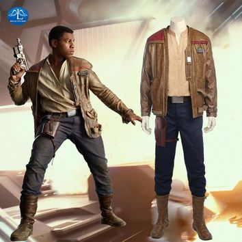 Star Wars 8 Finn Cosplay Costume Adult Men Full Set Custom Made