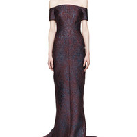 J. Mendel Off-the-Shoulder Fitted Gown