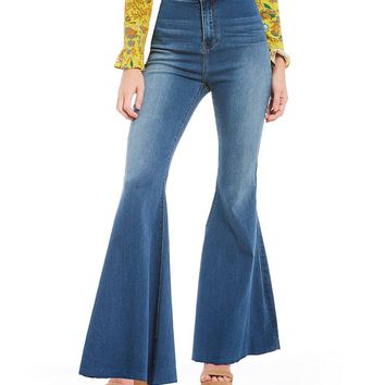 Chelsea & Violet Cropped Flare Jeans | Dillards