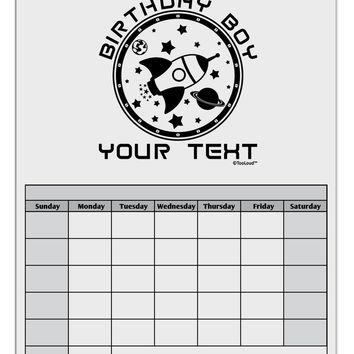 Personalized Birthday Boy Space with Customizable Name Blank Calendar Dry Erase Board