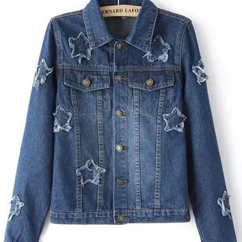 Blue Star Patched Denim Jacket