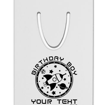 Personalized Birthday Boy Space with Customizable Name Aluminum Paper Clip Bookmark