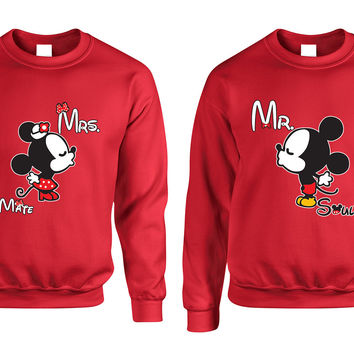 Mr soul Mrs mate kiss couples sweaters Valentines day