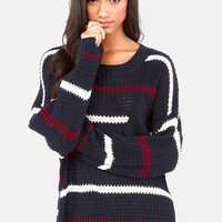 The Better Sweater Navy Blue Striped Sweater