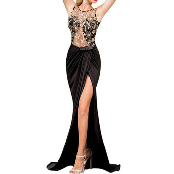 Women Sexy Formal Bridesmaid Summer Long Chiffon Ball Prom Gown Party Dress