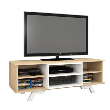 Beaumont 54-Inch TV Stand - Natural Maple/White