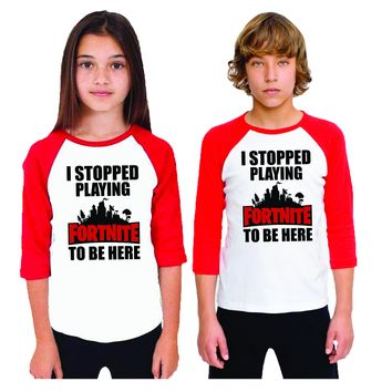 I Stopped Playing video games to be Here Kids Shirt