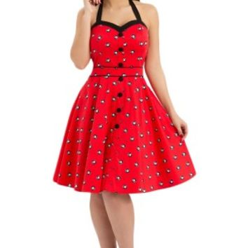 Pool Hall 8 Ball Halter Dress - Red