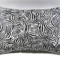 Zebra Pillow Cover with 12 x 16 pillow form; Accent pillow/decorative pillow cover with envelope closure - Pillow form INCLUDED