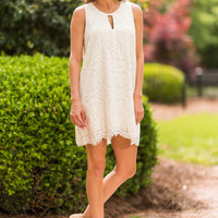 Successful Spring Dress, White