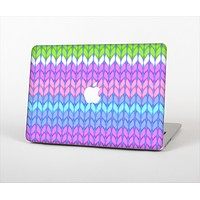 "The Bright-Colored Knit Pattern Skin Set for the Apple MacBook Pro 13"" with Retina Display"