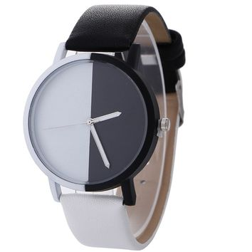 Montre Femme Neutral Black And White Pattern