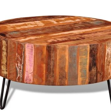 VidaXL Antique Style Antique Solid Wood Coffee Table Portable Sofa Side Table Living Room Small Coffee Table Home Furniture