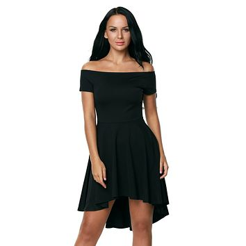 Black All The Rage Skater Dress