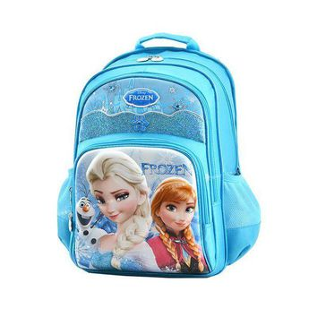 DKLW8 Disney cartoon elsa anna children orthopedic school bag books bag shoulder backpack for kids girls grade 1-3
