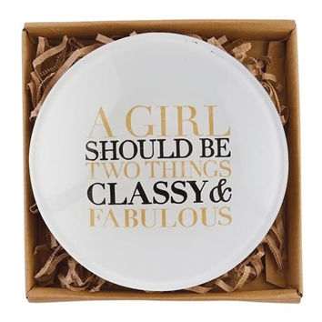 Classy And Fabulous Glass Plate By Mud Pie