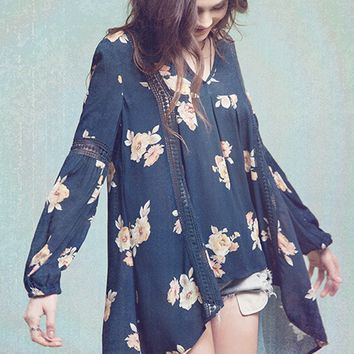 Floral Woven Tunic