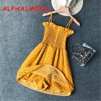 ALPHALMODA Summer Women Casual Playsuits Polka Dot Plaids Printed Female Summer Casual Vocation Rompers