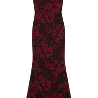 Alice + Olivia - Veda open-back floral-jacquard maxi dress