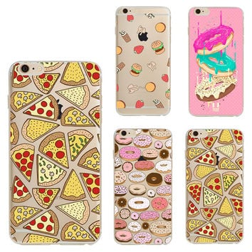 Pizza Soft Silicon For Coque iPhone 7 5 5S SE 5C 6 6S 7 Plus Cover For Samsung Galaxy S3 S4 S5 S6 S7 Edge J1 J5 A3 A5 2016 Case