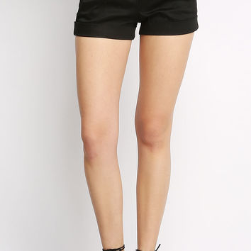 Self-Belted Shorts