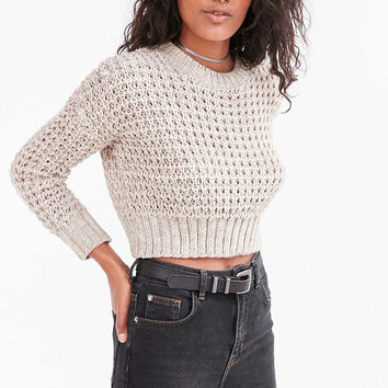 Ecote Isabella Open Stitch Crop Sweater - Urban Outfitters