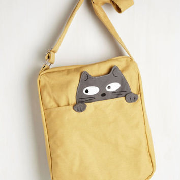 ModCloth Cats Got One Friend in My Pocket Bag in Cat