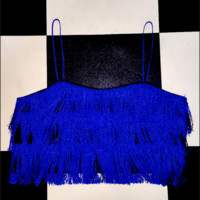 SWEET LORD O'MIGHTY! COOKIE MONSTER FRINGE TOP