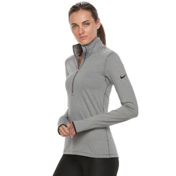 Women's Nike Warm Long Sleeve Half-Zip Baselayer Top | null