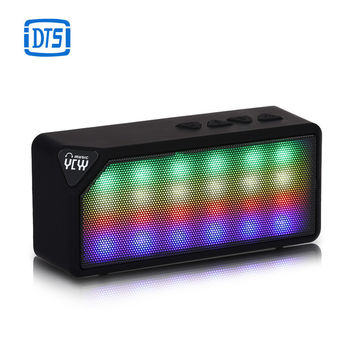 Hot Selling X3S Mini Wireless Flash LED Lights Pulse Bluetooth 2.0 Speaker Support Handsfree TF Card FM Radio for Smartphone
