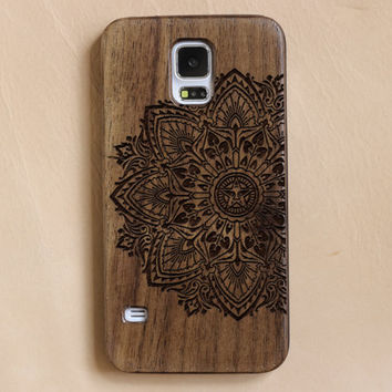 Wood Galaxy S5 Case,Mandala S5 case, wood Samsung Galaxy S4 Case,custom woodSamsung S6 Case,retroWood Samsung S3  case